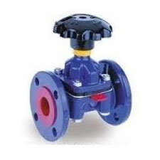 WEIR-A TYPE DIAPGRAGM VALVE FLANGED END INSIDE RUBBER LINED